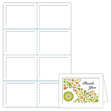 Blanks/USA® 5 1/2in. x 4 1/4in. 80 lbs. Smooth Cover Note Card, White, 400/Pack