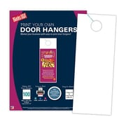 "Blanks/USA® 4 1/4"" x 11"" Digital Index Cover Door Hangers, White, 100/Pack"