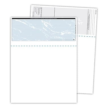 Blanks/USA® Kan't Kopy® 8 1/2in. x 11in. 60 lbs. Security Check on Top Papers, Void Blue, 500/Pack