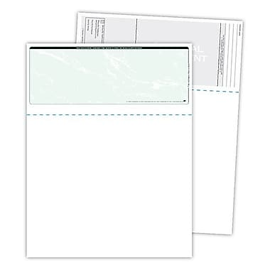 Blanks/USA® Kan't Kopy® 8 1/2in. x 11in. 60 lbs. Security Check on Top Papers, Void Green, 500/Pack