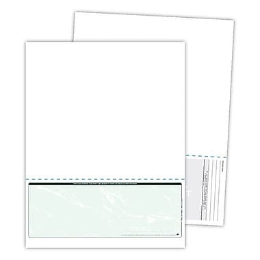Blanks/USA® Kan't Kopy® 8 1/2in. x 11in. 60 lbs. Security Check on Bottom Papers, Void Green, 500/Pack