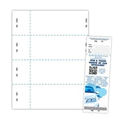 "Blanks/USA® 2 3/4"" x 8 1/2"" Numbered 01-1000 Digital Index Raffle Ticket, White, 1000/Pack"