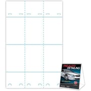 "Blanks/USA® 3.67"" x 3 1/8"" x 5 3/8"" 80 lbs. Digital Gloss Cover Table Tent, White, 300/Pack"