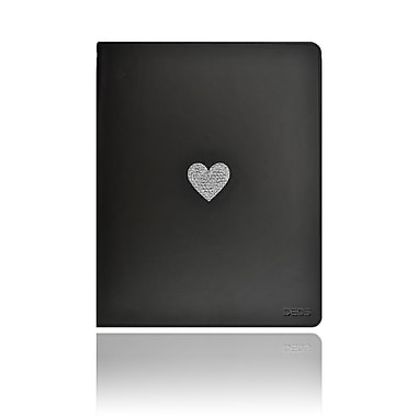 Deos™ SWAROVSKI® Folio Cases With White Crystal Heart For iPad