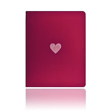 Deos SWAROVSKI Folio Case With Light Rose Crystal Heart For iPad, Pink