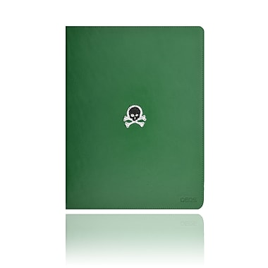 Deos SWAROVSKI Folio Case With Black and White Crystal Skull For iPad, Green
