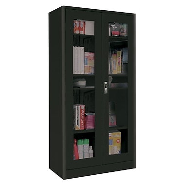 Sandusky® Elite 36in. x 18in. x 72in. Radius Edge Clearview Storage Cabinets