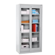 "Sandusky® Elite 72"" x 36"" x 18"" Sliding Door Clearview Storage Cabinet, Dove Gray"