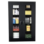 Sandusky® See Thru 36 x 24 x 78 Clearview Storage Cabinet, Black