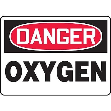 Accuform Signs® - Panneau de sécurité « DANGER OXYGEN », 7 po x 10 po