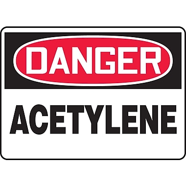Accuform Signs® - Panneau de sécurité « DANGER ACETYLENE », 7 po x 10 po