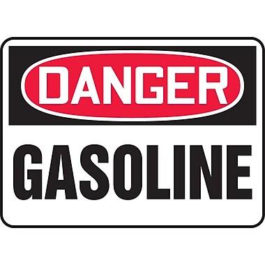Accuform Signs® - Panneau de sécurité « DANGER GASOLINE », 10 po x 14 po, vinyle adhésif