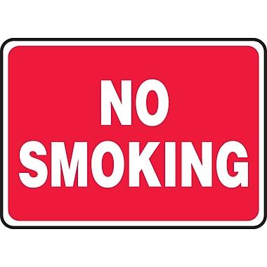 Accuform Signs® - Panneau de sécurité « NO SMOKING » (blanc/rouge), 7 po x 10 po, plastique