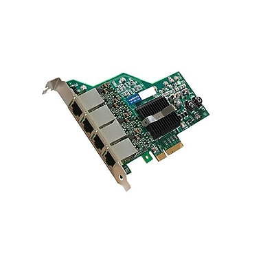 AddOn ADD-PCIE-4RJ45 Quad RJ45 Port Gigabit Ethernet x4 Network Interface Card For IBM 49Y4240