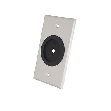 C2G Single Gang 1 1/2in. Grommet Wall Plate, Brushed Aluminum