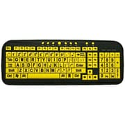EZSee CD1060 Large Print Spanish Latin American Keyboard, Yellow
