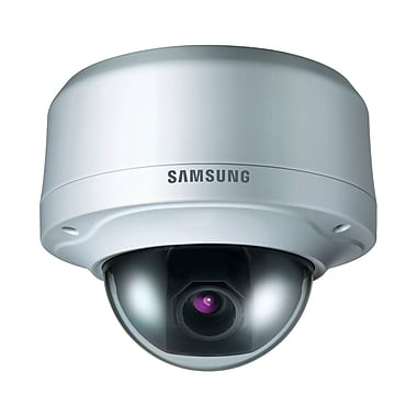 Samsung SCV-2080 High Resolution Vandal-Resistant Dome Camera, Light Gray