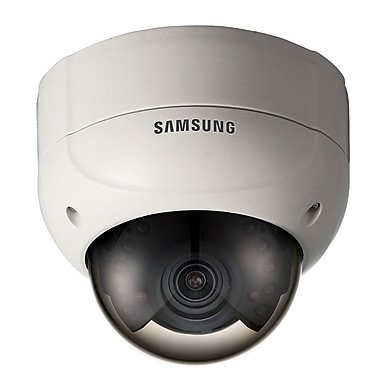 Samsung SCV-2080R High Resolution IR Vandal-Resistant Dome Camera, Ivory