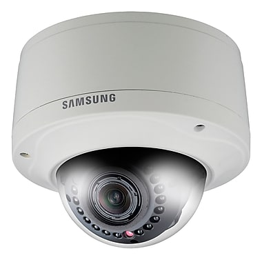Samsung SNV-5080R HD Vandal Resistant IR Dome Camera, Ivory
