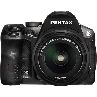 Pentax K-30 DSLR Black Camera With DA 18 - 55mm f/3.5-5.6 AL WR Zoom Lens