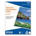 Epson 8 1/2in. x 11in. 45 lbs. Premium Presentation Matte Paper, White, 100 Sheets