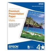 Epson 8 1/2 x 11 45 lbs. Premium Presentation Matte Paper, White, 100 Sheets