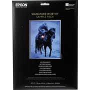 Epson 8 1/2 x 11 Signature Worthy Sample Packs Paper, White, 14 Sheets
