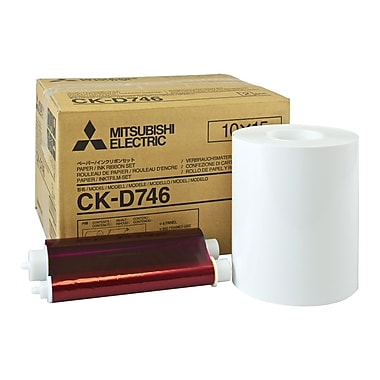 Mitsubishi 4in. x 6in. Glossy Laminated Paper Roll and Inksheet For CP-D70DW, CP-D707DW Printers