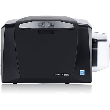 Fargo DTC1000 300 dpi 7 sec Single Sided ID Card Printer With Ethernet and Internal Print SVR ISO