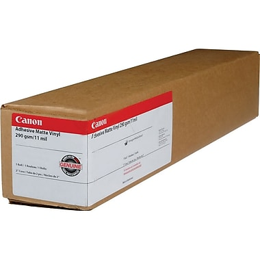 Canon 290gsm Self-Adhesive Vinyl Paper, Matte, 36in.(W) x 60'(L)