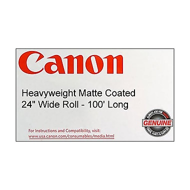 Canon 230gsm Heavyweight Coated Paper, Matte, 24in.(W) x 100'(L), 1/Roll