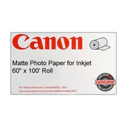 "Canon 170gsm Coated Paper, Matte, 60""(W)x 100'(L), 1/Roll"