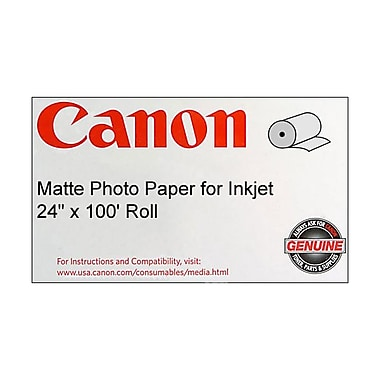 Canon 90gsm Coated Paper, Matte, 24in.(W)x 100'(L), 1/Roll