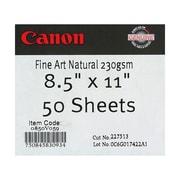 """Canon 230gsm Fine Art Natural Paper, Matte White, 13"""" x 19"""""""