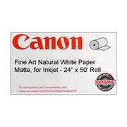 """Canon 230gsm Fine Art Natural Paper, Matte White, 24""""(W) x 50'(L)"""