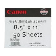 Canon 330gsm Fine Art Bright Paper, Matte White, 17(W) x 50'(L)