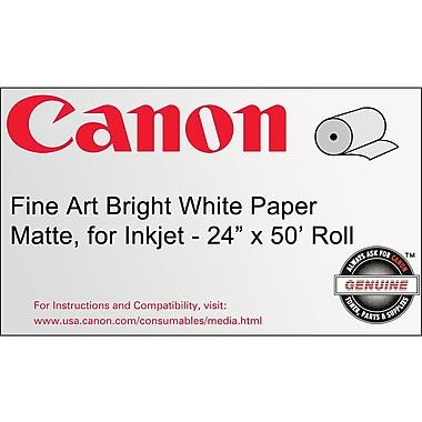 Canon 330gsm Fine Art Bright Paper, Matte White, 24