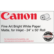 Canon 230gsm Fine Art Bright Paper, Matte White, 24(W) x 50'(L)