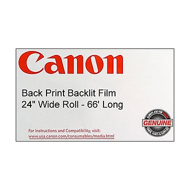Canon 165gsm Back Print Backlit Film, Gloss, 24in.(W) x 66'(L), 1/Roll