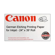 "Canon 310gsm Fine Art German Etching Printing Paper By Hahnemuhle, Matte, 24""(W) x 39'(L), 1/Roll"