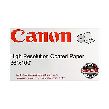 Canon 120gsm High Resolution Coated Bond Paper, 36in.(W) x 100'(L), 1/Roll