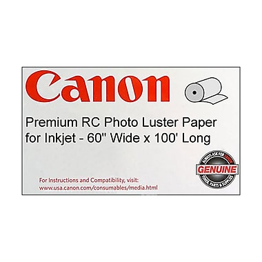Canon 255gsm Premium RC Photo Paper, Luster, 60in.(W) x 100'(L), 1/Roll
