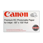 "Canon 255gsm Premium RC Photo Paper, Matte, 60""(W) x 100'(L), 1/Roll"