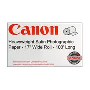 Canon 300gsm Heavyweight Photographic Paper, Satin, 17(W) x 100'(L), 1/Roll