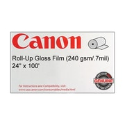 Canon 240gsm Roll-up Film, Gloss, 24(W) x 100'(L), 1/Roll