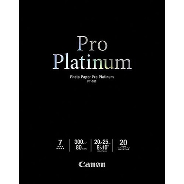 Canon 218gsm Pro Platinum Photo Paper, High Gloss, 8in. x 10in.