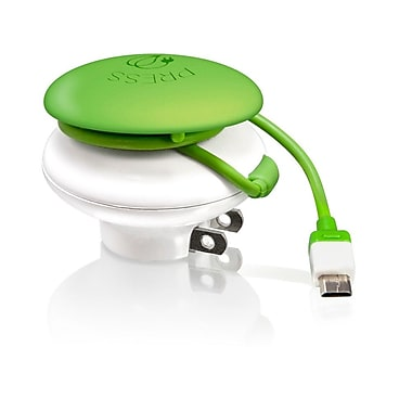 Bracketron Mushroom GreenZero Wall Travel Charger, 5 VDC - 1000 mA