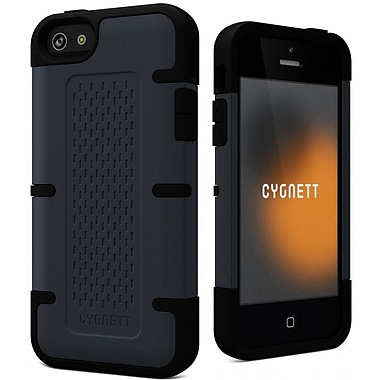 Cygnett WorkMate Shock-Absorbing Case for iPhone 5/5s, Slate Grey/Black