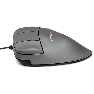Contour Medium Left-Handed Optical Mouse, Gunmetal Gray