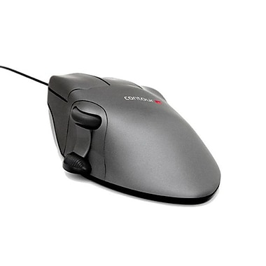 Contour Medium Right Handed Optical Mouse, Gunmetal Gray